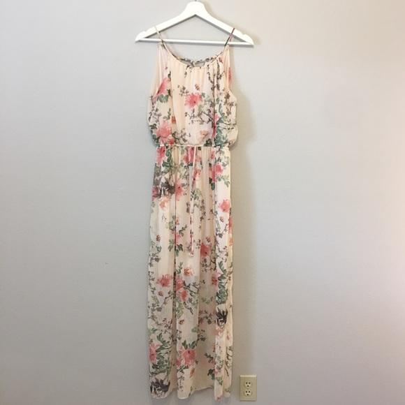 Sweet Storm Dresses & Skirts - Blush Floral Maxi Dress